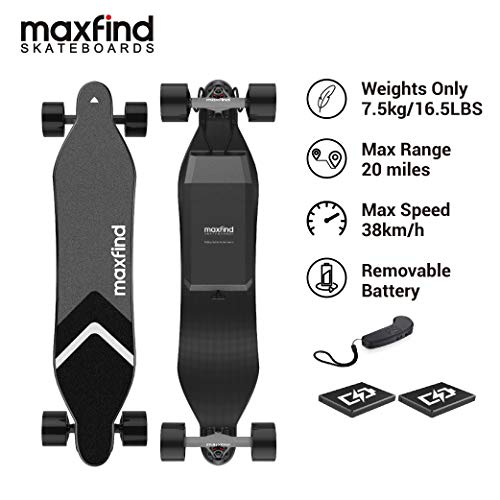 Sale!! Maxfind Max-4 Electric Skateboard Electric Longboard with Remote Control,IP65 Waterproof,Re...