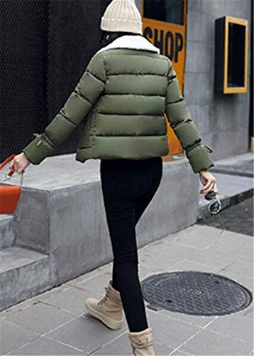 Trapuntato Giacche Donna Calda Elegante Giovane Con Anaisy Giacca Colore Trapuntata Breasted Armgrün Invernali Manica Puro Cappotto Autunno Comodo Lunga Imbottitura Double Piumini Fashion Tasche 6wqqFdB