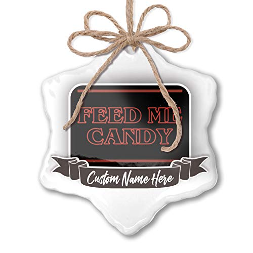 NEONBLOND Create Your Ornament Feed Me Candy Halloween