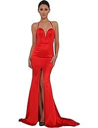 Strapless Asymmetric Slit Front Wedding Evening Party Maxi Dress
