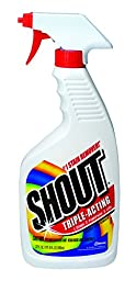 Shout Triple-Acting Laundry Stain Remover (Trigger Spray, 22-Ounce, Case of 12)