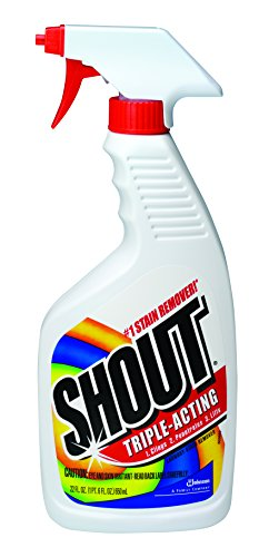 Shout Triple-Acting Laundry Stain Remover (Trigger Spray, 22-Ounce, Case of 12) by Shout