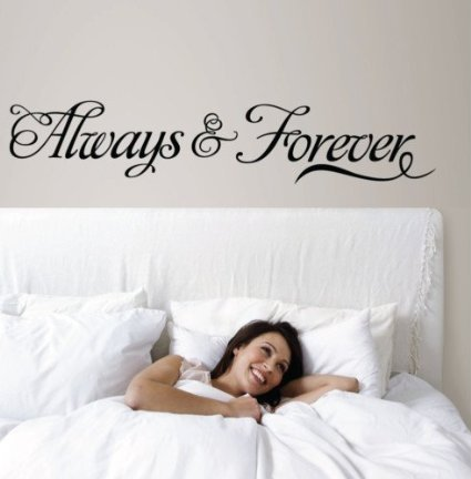 Cheap  MAFENT(TM)Always & Forever Wall Art Decal Sticker for Bedroom Decor 116cm x..