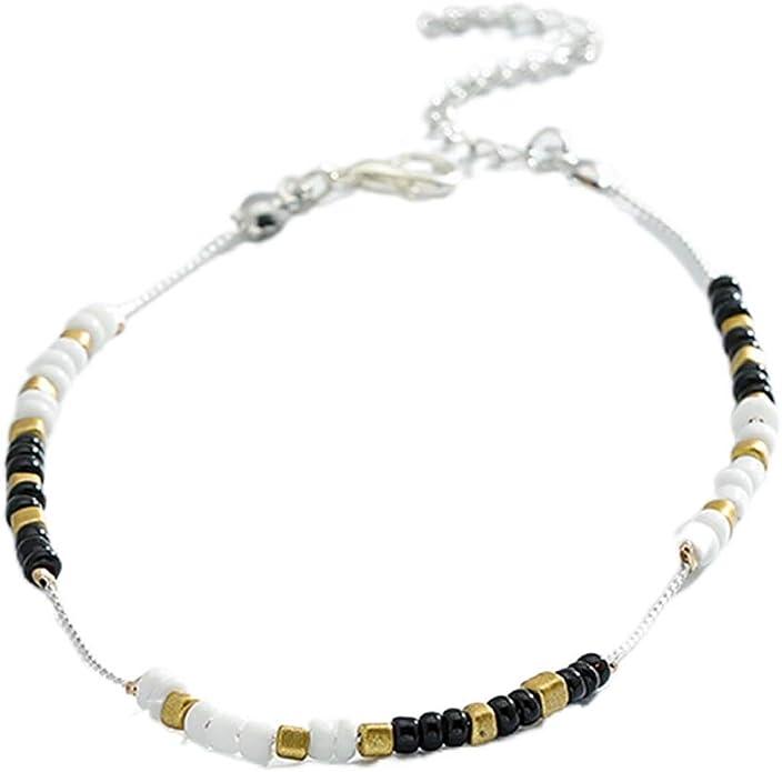 Silver Style 1 Boho Anklets Chaines Bracelets Plage R/églable Anklet Pied Bijoux Ensemble pour Femmes Filles