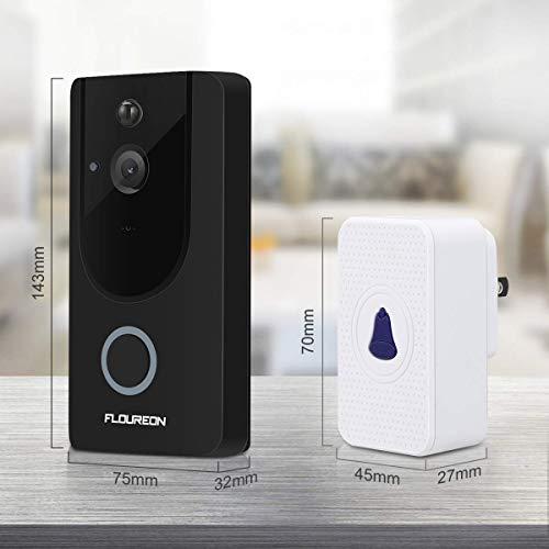 Wireless Video Doorbell FLOUREON WiFi Smart Video Doorbell