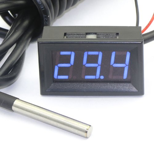 "6 opinioni per DROK® 0.56"" Digital Auto Temperatura Gauge -55~125 ℃ Termometro DS18b20 Sensor"