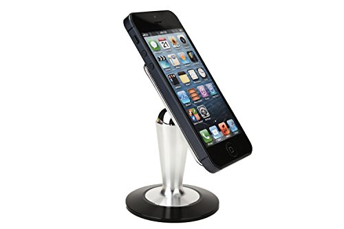 Cooper Pedestal BLU Life View Tab / Life View 8.0 / Studio 7.0 Desk Tabletop Metal Display Stand (Universal Compatibility; Sleek Aluminum Metal Design w/ Non-Slip Base; Magnetic Steel Ball Attachment; 360-Degree Rotation & Swivel Action; Multiple Landscape & Portrait Viewing Angles; Reusable Panel Glue Pad)