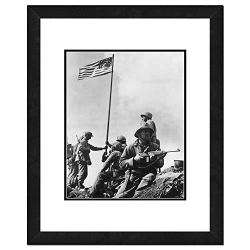 - Photo File 1st US Flag ATOP Mount Suribachi-Iwo Jima Framed Photo, 18