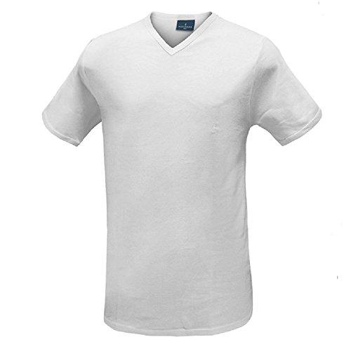 Bianco Calibrato Assortito Cotone 8 8 E Punta 3 9 Scollo Plus Misure Jersey T A Navigare Bianco shirt Uomo Maxi 10 qSUvXaw