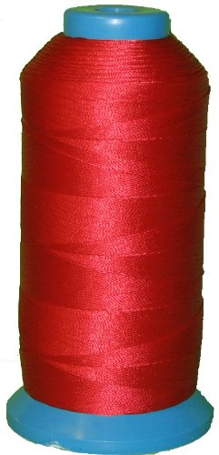 Bonded Nylon Sewing Thread #207 T210 1000yds for Outdoor, Leather (Red)