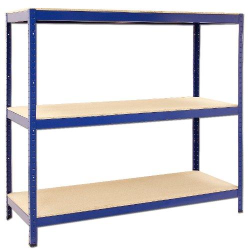Fachbodenregal TURUL 315B Weitspannregal 150 x 160 x 60 cm 3 Böden Schwerlastregal Werkstattregal Steckregal Regal blau