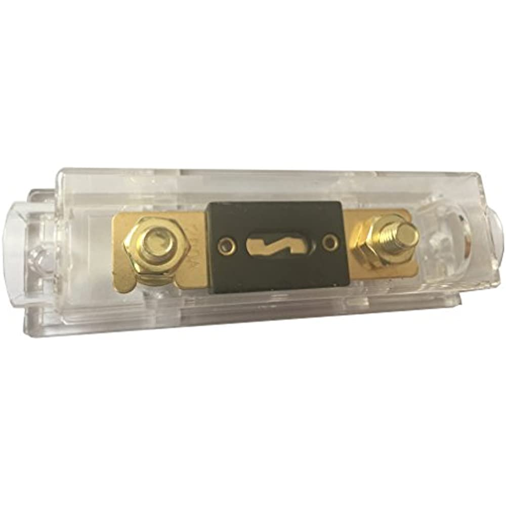 Anl Gold Plated Fuse 200 Amp   Holder 1 Pack Automotive Holders Electrical Tools 606829108554