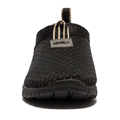 Deer Sommer flache Luft Schuhe, Mesh-Schuhe, laufen, Übung, Drive, sportliche Turnschuhe Schwarz Schwarz