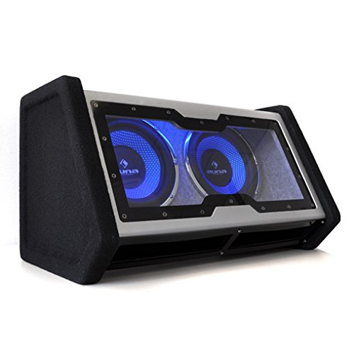 auna 2X10 Double Subwoofer LED Light Effect High Performance 2000W...