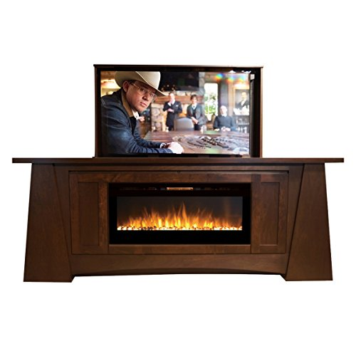 Pop Up TV Lift - Handcrafted Aspen Fireplace TV Lift Cabinet - ATL System (50