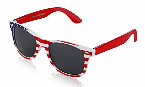 USA Sunglasses for Women Men USA Accessories Apparel Gifts Party 4th July 4 Red