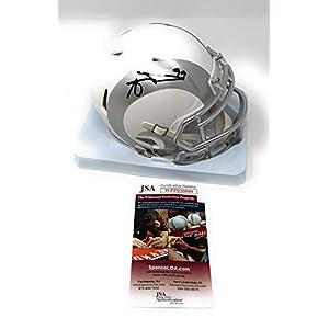 Aaron Donald Los Angeles Rams Signed Autograph Speed ICE Mini Helmet JSA Witnessed Certified