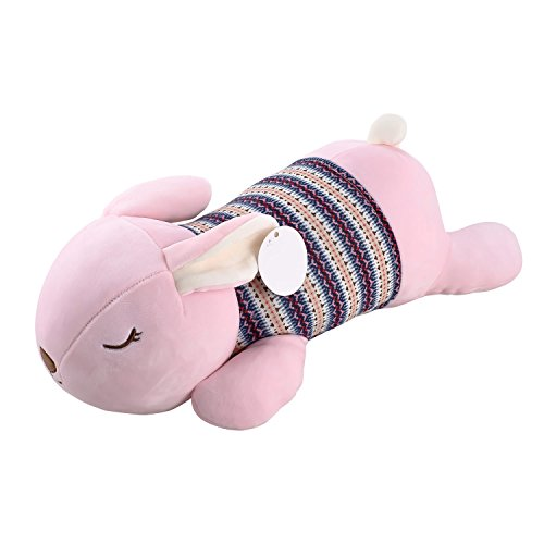 Smibie Cute Bunny Rabbit Pillow Plush Doll Stuffed Animals for Kids Pink 22 inches