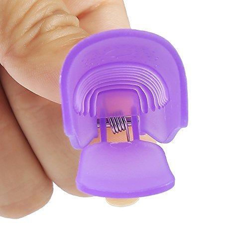 DECORA 10 Pieces Nail Clip Soak Off Clip Cap For Remove UV Gel Polish Purple