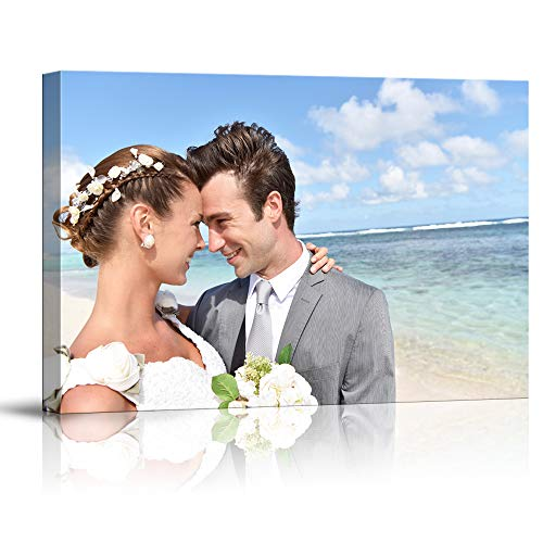 SIGNFORD Custom Canvas Prints, Personalized Poster Wall Art with Your Photos Wood Frame Digitally Printed - 24