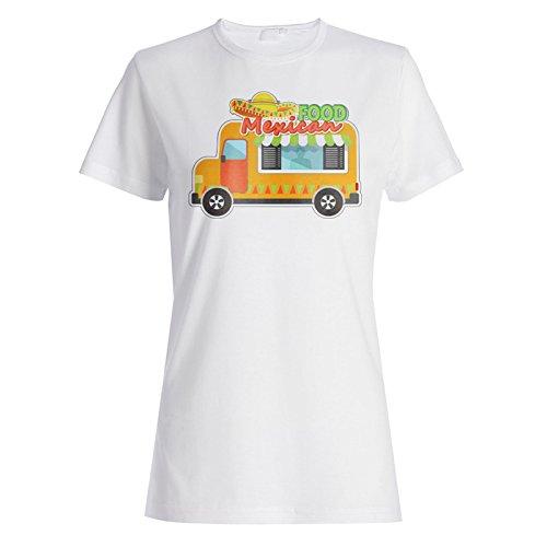 Neues Essen Van Mexikanisch Lustig Damen T-shirt l937f