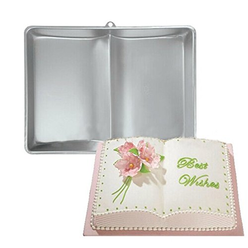 (Plum Garden 3D Book Shape Fondant Cake Tin Baking Mold Decorating Bake Ware Tools)