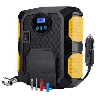 Exclent Eléctrico Dc 12V Auto Car Portable Compresor De Aire Bomba Inflador De Neumáticos Con Luz Led Y Manómetro Digital - Negro: Amazon.es: Coche y moto