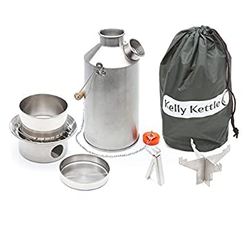 Kelly Kettle Large Stainless Steel Base Camp Basic Kit