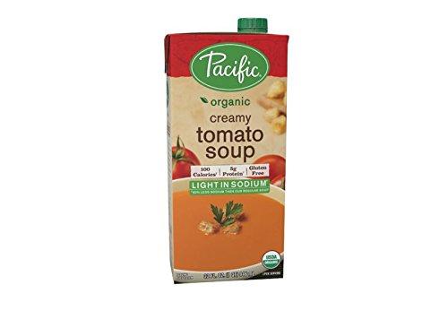 Sodium Creamy (Pacific Foods Light Sodium Organic Creamy Tomato Soup, 32-Ounce Cartons, 12-Pack)