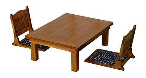 Miniature Set of Table and Chair Size 1/12 (Japan Import)