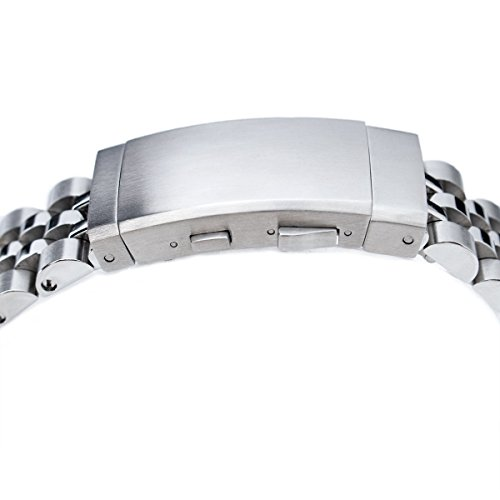 22mm ANGUS Jubilee 316L SS Watch Bracelet Straight End 1.8 Universal, Ratchet Buckle Brushed by Seiko Replacement by MiLTAT (Image #3)