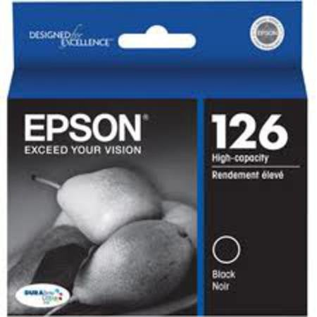 Epson T126 OEM Multipack - 1 Cyan (T1262), 1 Magenta (T1263), 1 Yellow (T1264), and 1 Black (T1261)