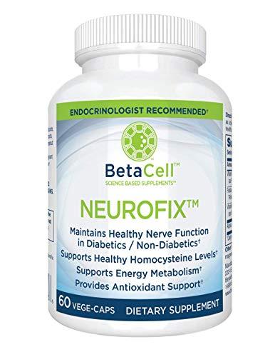 NEUROFIX: Nerve Vitamin Supplement 60 Vege Caps - B Vitamin Supplement - Dietary Supplement - Alpha Lipoic Acid 300mg - Nerve Health Supplements