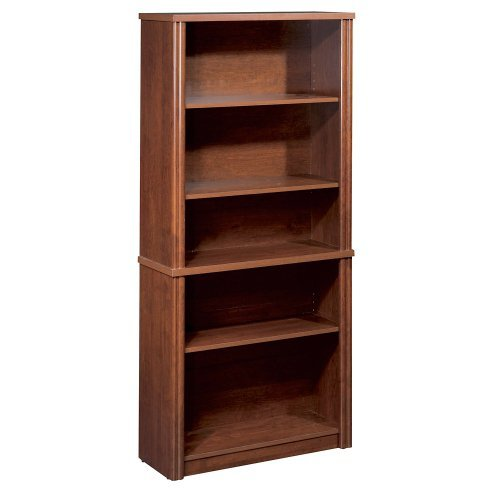 Bestar Office Space Corner - Bestar Office Furniture Embassy Collection Five-Shelf Scratch Resistant Bookcase, Tuscany Brown