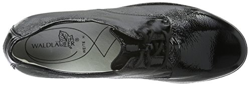 Waldläufer Hanako, Zapatos de Cordones Derby para Mujer Negro - Schwarz (Taipei schwarz)