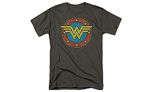 Wonder Woman Vintage Logo DC Comics T Shirt & Stickers