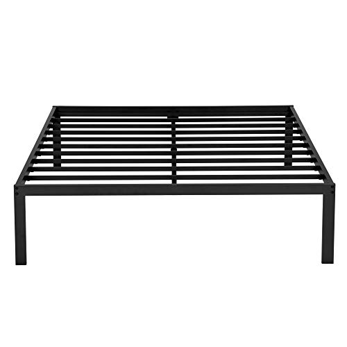 - SLEEPLACE 16 Inch High Profile Round Edge Tall Steel Slat Bed Frame / Non-Slip Support/ SS-3000 (QUEEN / 16 INCH TALL)