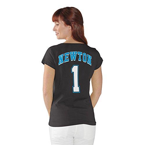 Cam Newton #1 Carolina Panthers NFL Women's Player T-shirt (Medium)