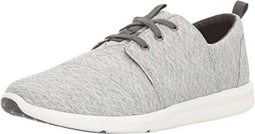 TOMS Women's Del Rey Sneaker Grey Diamond Melange Oxford