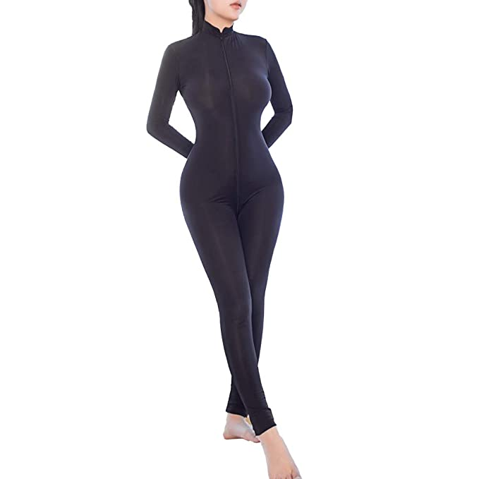 MOMOTOPM Woman Lingerie Crotchless Bodysuit Sexy Jumpsuit Nightwear Tights  (Black)