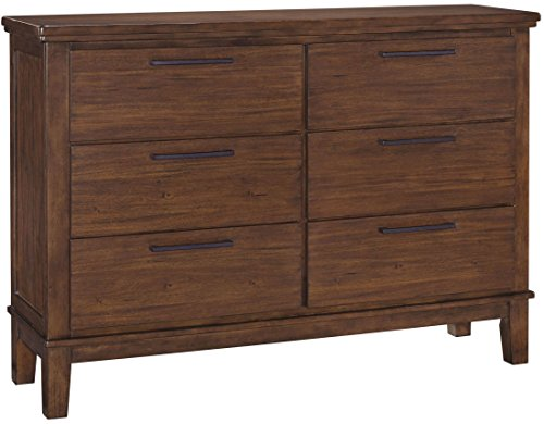 Ashley Furniture Signature Design - Ralene Six Drawer Dresser - Contemporary - Medium Brown by Signature Design by Ashley