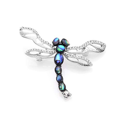 - WULI & BABY Dragonfly Natural Abalone Shell Insects Brooches