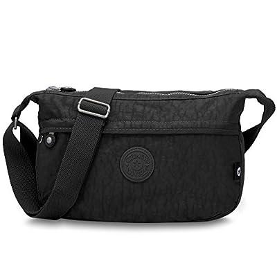 Oakarbo Nylon Multi-Pocket Travel Crossbody Shoulder Bag