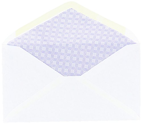- AMPAD Business Envelopes, No Privacy Tint, 3-5/8 x 6-1/2 Inches, No: 6-3/4, V-Flap White, 100 Per Box (74011W)