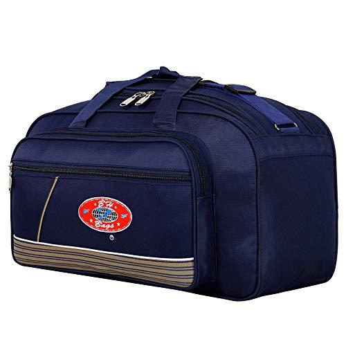 BH  Expandable  Light Weight Travel Duffel Bag  Blue