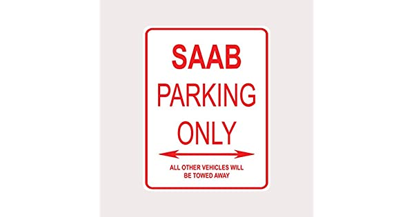 Amazon.com: Saab Parking Only aluminio placa de calle: Home ...
