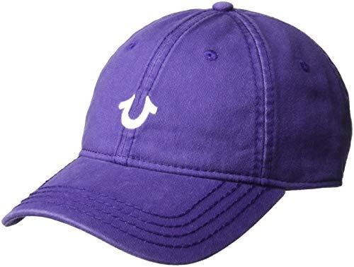 True Religion Men's CORE Logo Baseball Cap, Purple rain, OSFA