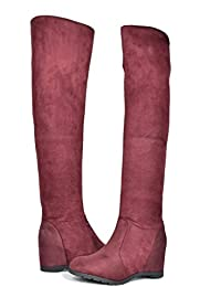 Amazon.com: Purple - Over-the-Knee / Boots: Clothing, Shoes & Jewelry