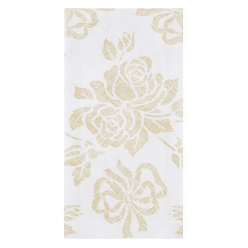 Hoffmaster 856520 Linen-Like Guest Towel, 1/6 Fold, 17'' Length x 12'' Width, Gold Prestige (Case of 500)