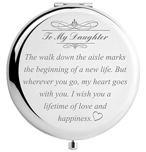 Daughter Wedding Gift from Mom Dad, Bride Gifts for Wedding Day, Engraved -